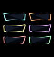 banner on night neon light special offer sale vector image vector image
