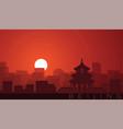 beijing low sun skyline scene