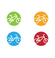 bike logo icon design template vector image vector image