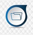 blue folder icon geometric background image vector image vector image