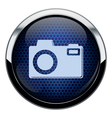Blue honeycomb photo icon vector image vector image