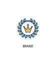 brand concept 2 colored line icon simple yellow vector image vector image