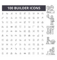builder line icons signs set outline vector image vector image