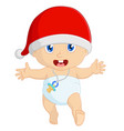 cartoon bain christmas vector image vector image