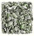 cartoon doodles new year vector image