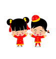 Chinese boy and girl for new year design and vector image vector image