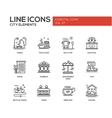 City elements - line design icons set vector image vector image