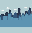 city landscape with skyscrapers in the daytime vector image vector image