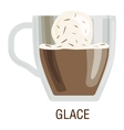 Coffee cups different cafe drinks glace vector image vector image