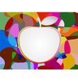 Colorful with blank apple shape vector image vector image