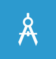 compasses icon white on the blue background vector image