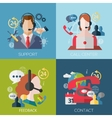 concept icons for web and mobile phone services vector image vector image