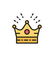 crown head accessory for celebration flat color vector image