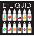 E Liquid of different flavor vector image vector image