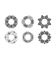 Ethnic ornamental cirular frames set vector image