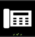 fax it is white icon vector image vector image