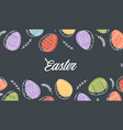 festive banner frame template with trendy outlined vector image vector image