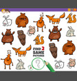 find two same animals educational task for kids