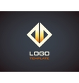 Fire logo template Fashion Jewelry luxury vector image vector image
