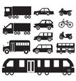 Flat cars concept set icon pictogram design Tampla vector image