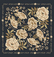 floral background inspired embroidered fabrics vector image vector image