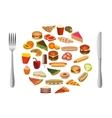 food collection vector image