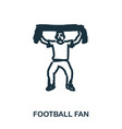 football fan icon mobile apps printing and more vector image vector image