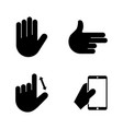 hands simple related icons vector image vector image