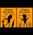 happy halloween orange vector image vector image