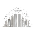 houston city skyline in vector image