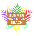 label summer beach vector image