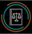 law book icon - judge icon - legal sign vector image