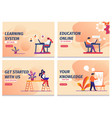 learning system start online education knowledge vector image