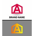 Letter A logo with home icon vector image vector image