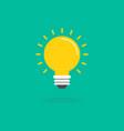 light bulb icon flat design vector image vector image