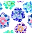 Mandala watercolor pattern vector image