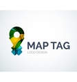 Map tag logo design made of color pieces vector image vector image
