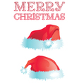 Merry christmas set vector image vector image