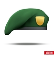 Military Green Beret Army Special Forces vector image