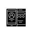 mobile interface black icon sign on vector image