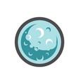 moon planet space icon cartoon vector image