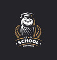 owl education logo - emblem vector image vector image