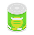 peas tin can icon isometric style vector image vector image