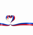 philippines flag heart-shaped ribbon vector image