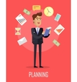 Planing Concept in Flat Design