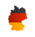 realistic 3d detailed germany flag on a map shape vector image