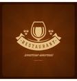 Restaurant Shop Design Element in Vintage Style vector image vector image