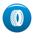 round tire icon blue vector image vector image