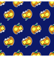 seamless patternr - halloween pumpkins vector image vector image