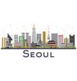seoul korea city skyline with color buildings vector image vector image